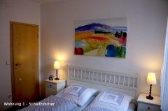 Grossansicht in neuem Fenster: FeWo Beiersdörfer Schlafzimmer