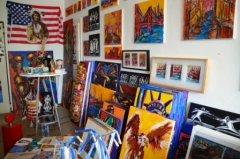 Grossansicht in neuem Fenster: 77_Schimmel_Bilder im Atelier